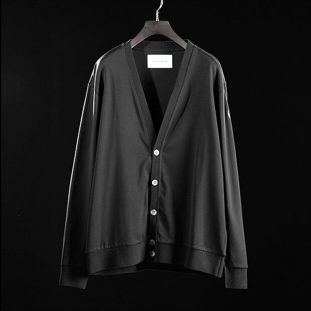 V-NECK CARDIGAN BLACK