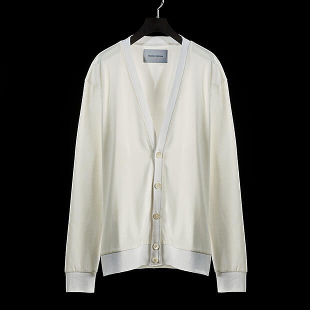V-NECK CARDIGAN WHITE