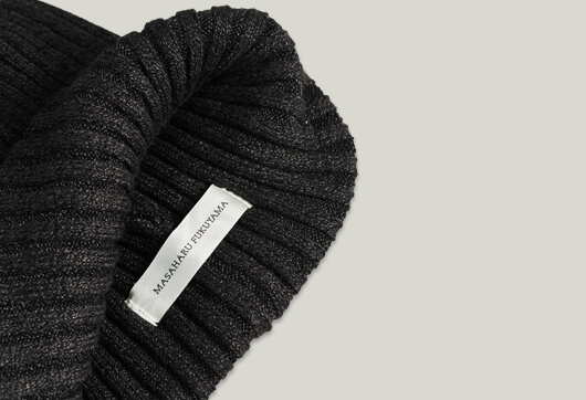 RIB KNIT CAP BLACK