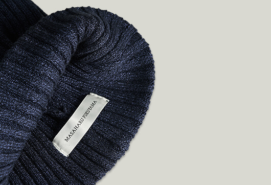RIB KNIT CAP NAVY