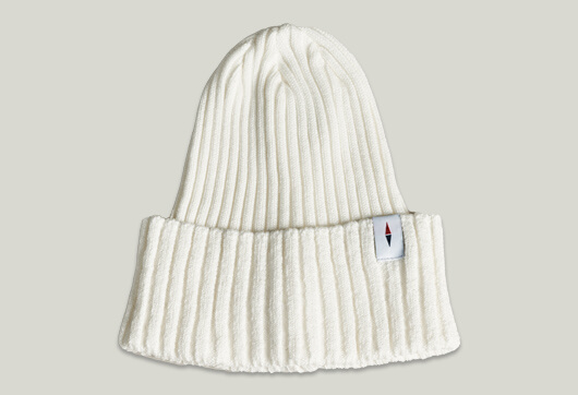 RIB KNIT CAP WHITE
